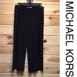 NWT Michael Kors Black Button Stretch Pants